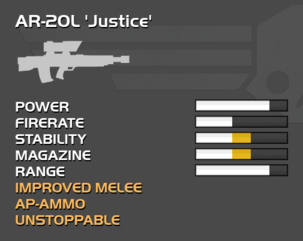 Fully upgraded AR-20L Justice