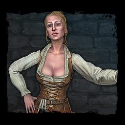 Eine Dorffrau aus Trübwasser