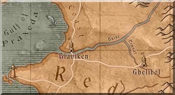 Ghelibol auf der Karte von The Witcher 1