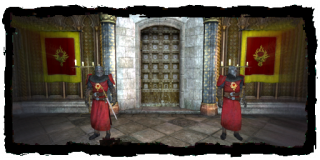the guards inside the Cloister