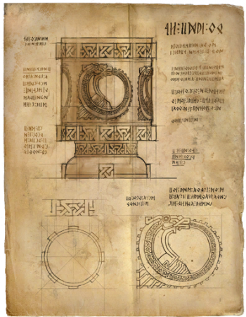 Entwurf des verzierten Bechers