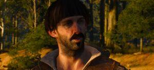 Dieses Bild zeigt den Händler Bram kurz nach dem angriff durch den Greifen auf seinen Karren bei der Fort.