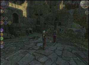 Alte Benutzeroberflache in-game, Geralt mit dem Gefangenen