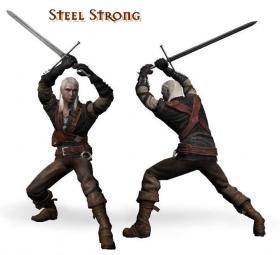 Starker Kampfstil Stahl
