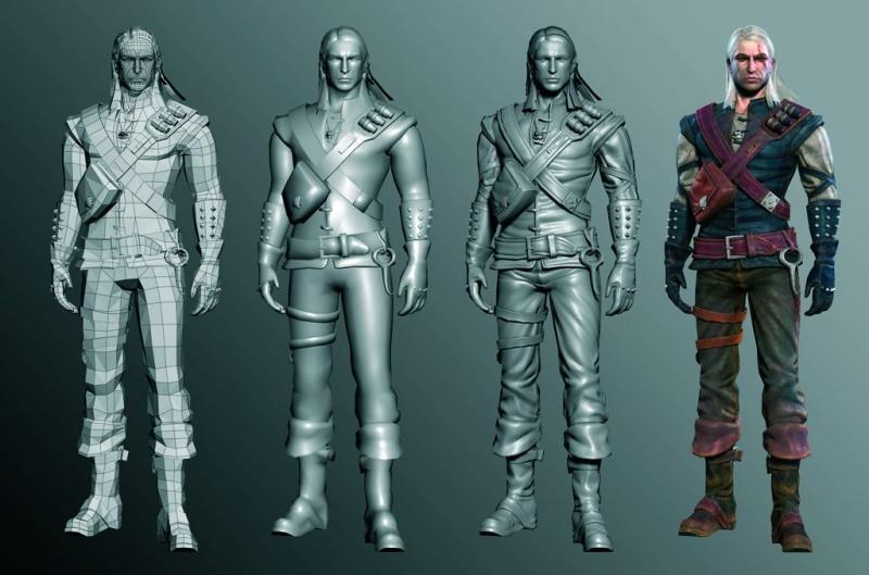 Entstehungsphasen Geralt für das Computerspiel