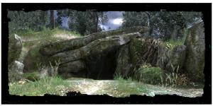 Höhle im Umland