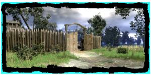 Palisadensiedlung Eingang