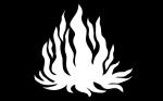 """Banner der Division """"Deithwen"""" - die Weiße Flamme"""