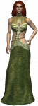 Triss Merigold, Zauberin die Geralt als ihre Begleitung mitnimmt