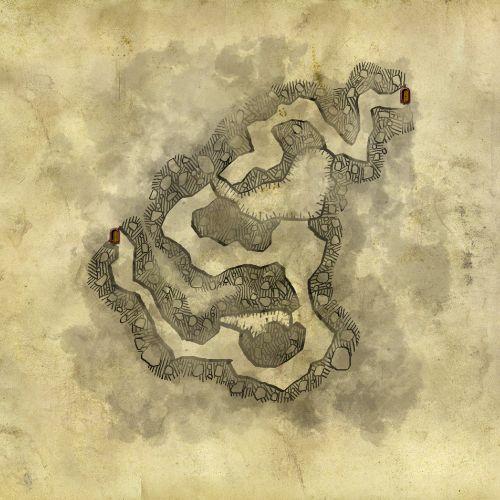 Karte der Höhle außerhalb von Loc Muinne