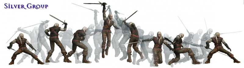 Gruppenkampfstil mit dem Silberschwert