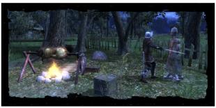 Lager des königlichen Jägermanns