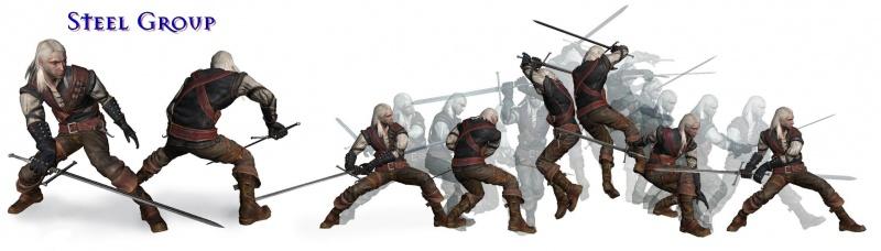 Gruppenkampfstil mit dem Stahlschwert