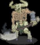 Monster Undead MinotaurSkeleton.png