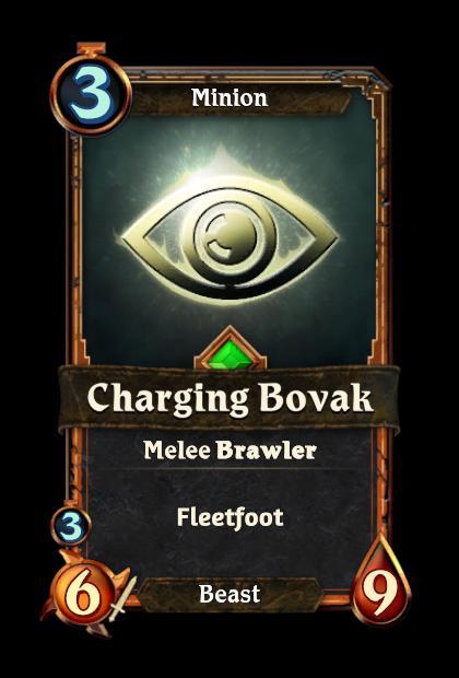 Charging Bovak