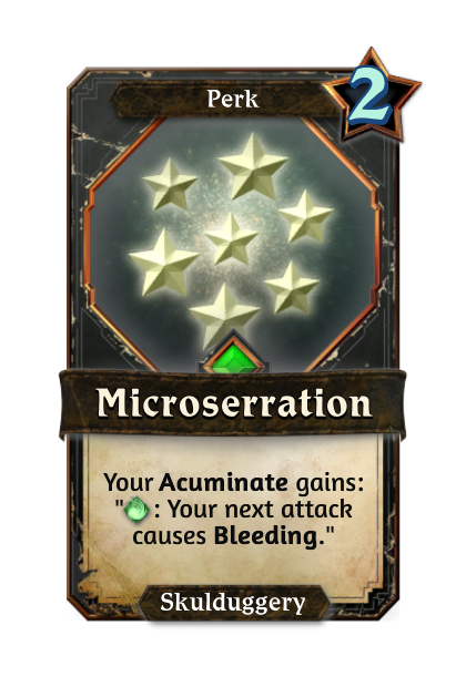 Microserration