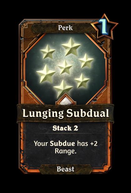 Lunging Subdual