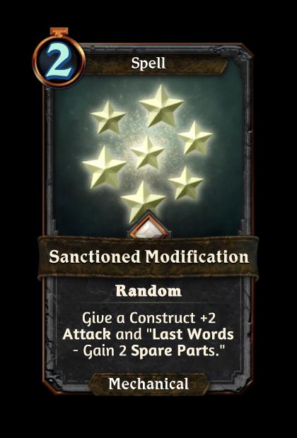 Sanctioned Modification