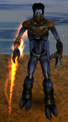 Raziel with the Fire Reaver in Soul Reaver 2