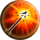 The Explosive Shot icon as it appears in Nosgoth.