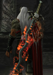 Kain with the Flame enhancement in Defiance