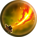 The Flamethrower icon as it appears in Nosgoth.
