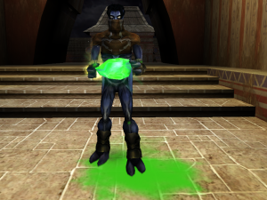 Raziel holding the Green Heart