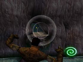 Raziel aiming a Telekinetic Force Projectile in Legacy of Kain: Soul Reaver