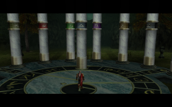 Kain and Raziel at the Pillars of Nosgoth.