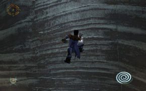 Raziel scaling a wall in Soul Reaver 2
