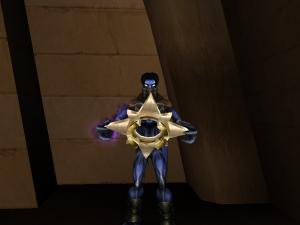 Raziel holding the Light Forge Key