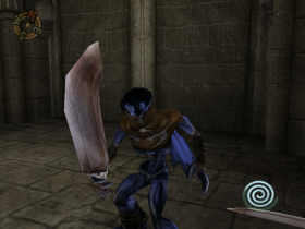 Raziel with a Vampire Hunter Falchion in Soul Reaver 2