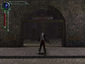 Front Gate of the Ducket's Traders Warehouse