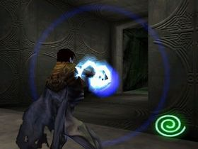 Raziel manually aiming a Reaver Bolt in Legacy of Kain: Soul Reaver