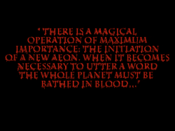 The Blood Omen epigraph