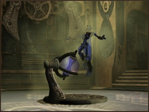 Raziel utilizes a Time Steaming Chamber in Soul Reaver 2
