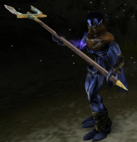 Raziel armed with a Trident in Soul Reaver 2
