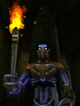 Raziel with a Torch in Soul Reaver 2