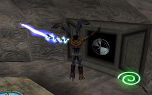Raziel gliding in Legacy of Kain: Soul Reaver