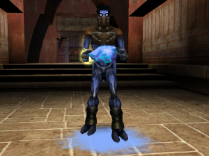 Raziel holding the Blue Heart