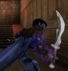 Raziel with a Scimitar in Soul Reaver 2
