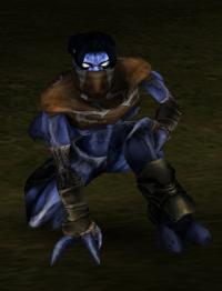 Raziel crouching in Soul Reaver 2