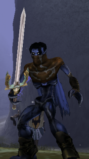 Raziel with a Long sword in Soul Reaver 2