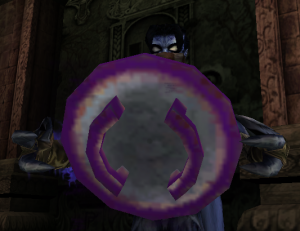 Raziel holding a Dark Forge Emblem Key Shield