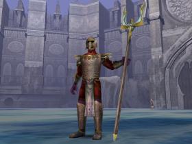 A Sarafan Warrior Pikeman with Sarafan Trident.
