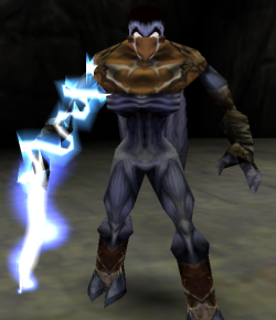 Raziel with the Water Reaver in Legacy of Kain: Soul Reaver