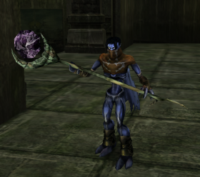 Raziel with a Dark Forge Staff Soul Reaver 2