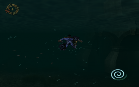 Raziel Swimming in Soul Reaver 2