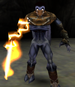 Raziel with the Fire Reaver in Legacy of Kain: Soul Reaver