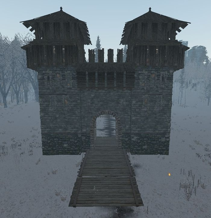 Castle gatehouse with bridge ingame.jpg